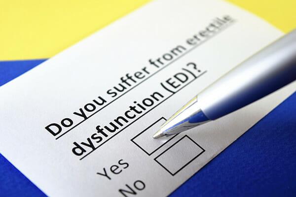 types of erectile dysfunction